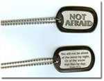 Not Afraid - Dog Tag